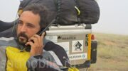 Wissam Al Jayyoussi uses Thuraya XT handset during his Goodwill Journey - Image 2